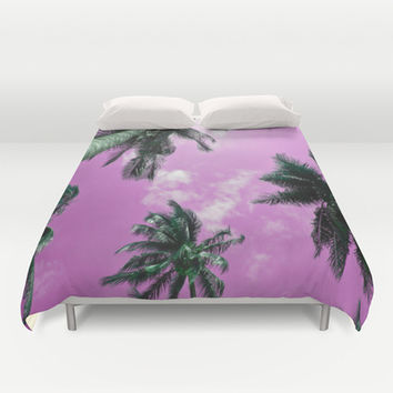 Palm trees Duvet Cover by Nicklas Gustafsson