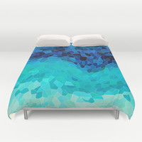 INVITE TO BLUE Duvet Cover by Catspaws | Society6
