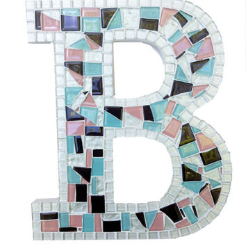 Letter B, Mosaic Wall Decor, Nursery Alphabet Letter