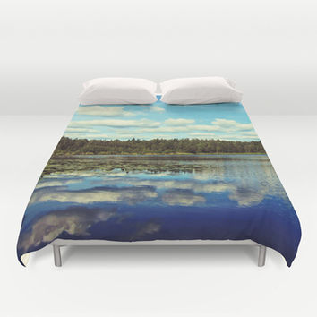 Reflections of nature Duvet Cover by Nicklas Gustafsson
