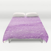 Glitter Pink Duvet Cover by Alice Gosling | Society6