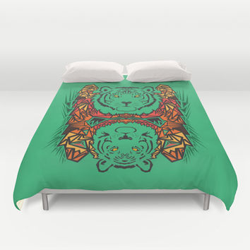 Tigers Duvet Cover by Ornaart