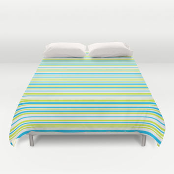 Stripes on white Duvet Cover by eDrawings38 | Society6