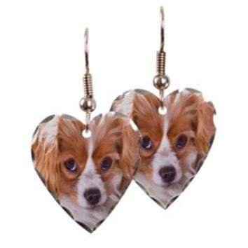 Bright Eye Cavalier Dog Earring Heart Charm> Bright Eye Cavalier King Charles> Cavalier King Charles Spaniel Shop