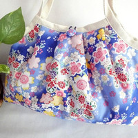 Japanese Kimono Pattern Granny bag purse cherry by MofLeema