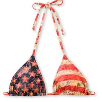 Obey Star Spangled Red Triangle Bikini Top at Zumiez : PDP