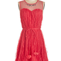 Ryu Sleeveless A-line Strawberry Salsa Dress