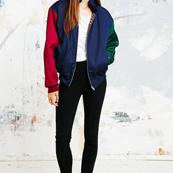 Urban Renewal Vintage Surplus Colourblock Harrington Jacket - Urban Outfitters