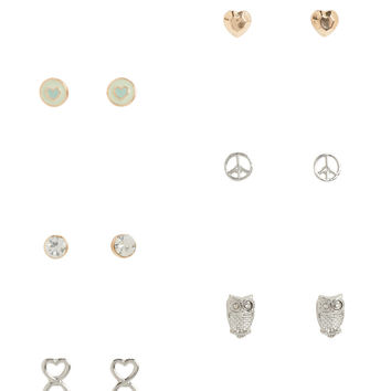 Peace Stud Earring 6-Pack