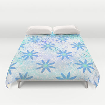 Grunge Daisy Duvet Cover by KCavender Designs