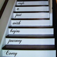 Every Journey Stairs Quote Decal Sticker Wall Vinyl Art Home Family