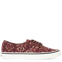 The Authentic Sneaker in Tribe Rug Red Clay