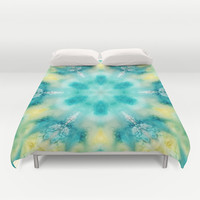 watercolor tie dye Duvet Cover by Sylvia Cook Photography
