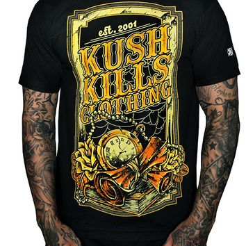 "Men's ""Time Has Passed"" Tee by Kush Kills Clothing (Black)"