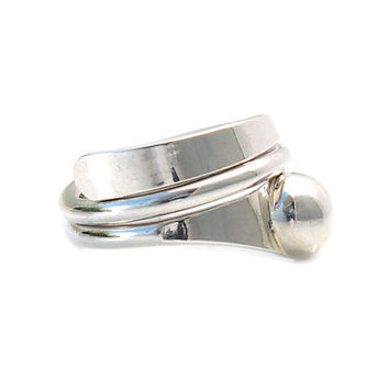Plain sterling silver ring | Innovation ring | Mexican ring | handmade | women silver jewelry | Taxco | 925 | Mexico | Cute rings | 0210