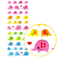Elephant Shaped Glittery Jelly Puffy Stickers | Cute Animal Themed Scrapbook Decorating Supplies