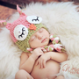 Crochet Sleepy Owl Hat Newborn To Toddler Sizing Photography Prop | Luulla
