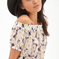Daisy Print Crop Top