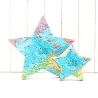 Personalised Freestanding Map Star