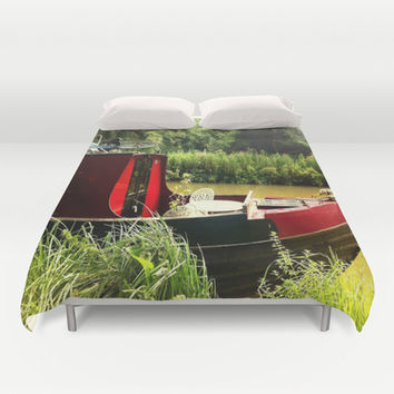At Home on the Avon Duvet Cover by Hoshizorawomiageteiru | Society6