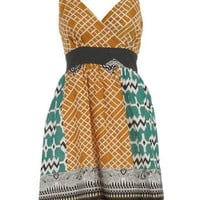 Multi tribal print dress - Day Dresses - Dresses - Dorothy Perkins