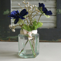 Blue Anenomes In Jam Jar