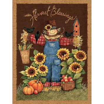 Fabric, Harvest Blessings Wall Hanging Panel, sold by the panel, Springs Creative