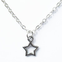 Silvertone Star Necklace from Kool Jewels | Made By Kool Jewels | £9.00 | BOUF