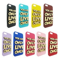 You Only Live Once  Wood Typography For Iphone 5, Iphone 4/4s