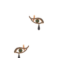 Angry Tears Earrings in Rose Gold