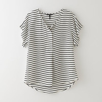 OAKLY SILK STRIPE TOP