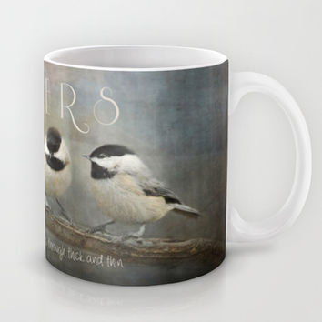Sisters - Chickadees - Birds Mug by Jai Johnson