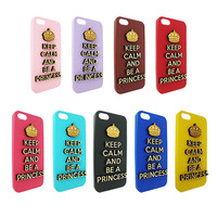 Keep calm and be a princess 3d  Wood  typography For Iphone 5, Iphone 4/4s