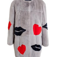 MSGM | Rabbit Fur Motif Coat | Browns fashion & designer clothes & clothing
