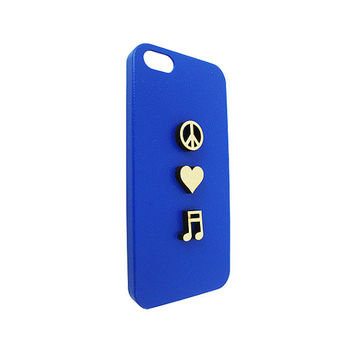 Peace Love Music 3D Wood  For Iphone 5, Iphone 4/4s