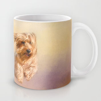 Into the Wind - Yorkshire Terrier Mug by Jai Johnson