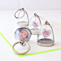 Personalised Clear Dome Keyring/Keepsake