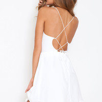 Myne Birdy dress in white