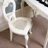 Cream ornate Chair - Melody Maison