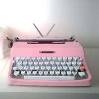 Vintage Pink Olivetti Typewriter - Reconditioned Custom Painted Typewriter