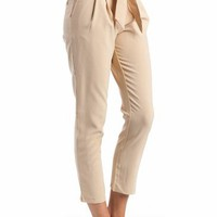 pleated pants $27.10 in BLACK GREEN KHAKI - Long Pants | GoJane.com