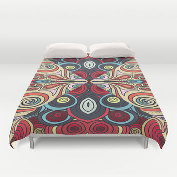 Summer Swirl Duvet Cover by DuckyB (Brandi)