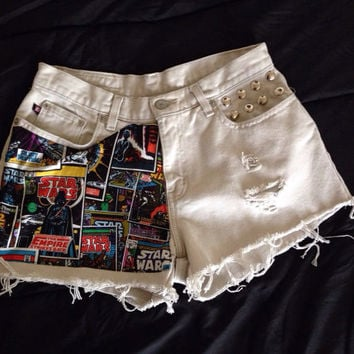 Vintage Ralph Lauren Star Wars high waist shorts