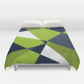 Phrendly Fragments Duvet Cover by DuckyB (Brandi)