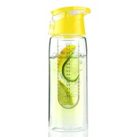 Asobu Pure Flavour 2 Go Water Bottle, Yellow