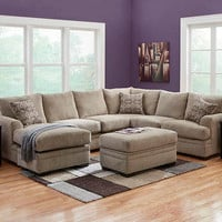 Platinum Gray 2 Pc. Sectional (reverse)