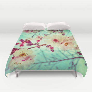 Early Blooms Duvet Cover by DuckyB (Brandi)