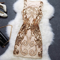 sexy fashion slim Sequined dress