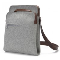Zip-Top Messenger grey | Graf & Lantz