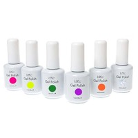 BMC 6pc Color Gel Nail Art Polish UV LED Light Manicure Collection Set-Mixed Variety, Stuck On You Like Gelly Collection